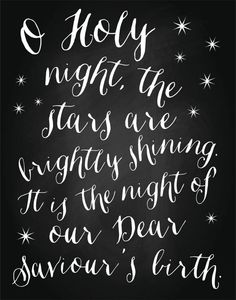 O Holy Night Christmas Poster Art Instant by LittleBohemianPapier // Etsy Instant Download $8  #Christmas #Holiday #Art