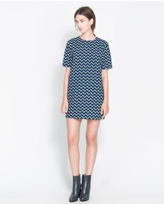 Zara Blue Dress + Booties Combo