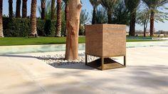CUBE in walnut travertine, omnidirectional sound module designed by Vladimir Djurovic for Architettura Sonora, when high-performing audio meets design driven innovation! Travertine, Cube, Sidewalk, Exterior, Plants, Instagram, Design, Innovation, Decor