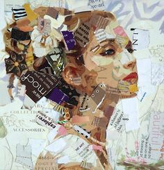 Amazing portrait made of junk mail made by Derek Gores. From Upcyclist: a website that features eco-friendly designs.