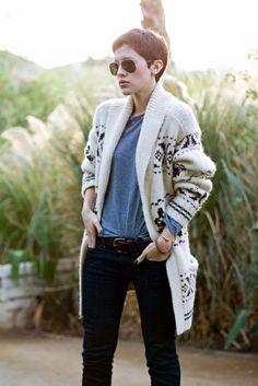 Karla's Closet -Wearing a Ralph Lauren Denim & Supply wool knit sweater and jeans