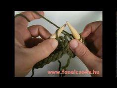 Kötés: alapok 12. rész - szaporítás keresztszálból (1), M1B vagy M1R - YouTube Knitting Patterns, Youtube, Cable Knitting Patterns, Knit Patterns, Youtube Movies, Knitting Stitch Patterns