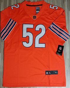 25aac9e34 New Chicago Bears Khalil Mack  52 Orange stitched jersey Medium Men  fashion   clothing