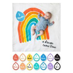 Muslin Blanket & Memory Card Set, Rainbow