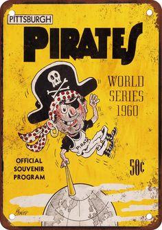 1960 World Series Pirates vs Yankees Vintage Look Reproduction Metal Sign | eBay