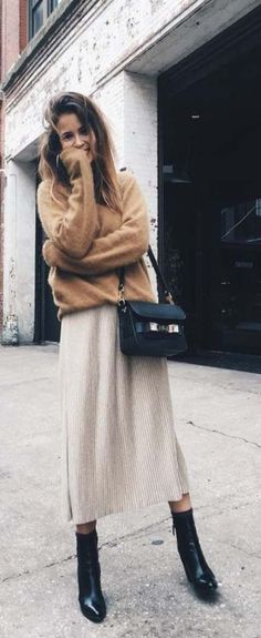 cozy fall and winter 2017 outfit and style ideas fashion inspo Fashion Moda, Look Fashion, Womens Fashion, Fashion Trends, Fall Fashion, Fashion Ideas, Fashion Outfits, Teen Fashion, Casual Outfits