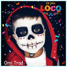 This rendition of is soooo cute! Thank you Omi at for sharing it with us! This rendition of is soooo cute! Thank you Omi at for sharing it with us! Clown Halloween, Face Painting Halloween Kids, Halloween Makeup For Kids, Christmas Face Painting, Kids Makeup, Fete Halloween, Halloween Pumpkins, Kids Skeleton Face Paint, Homemade Halloween