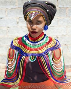 Xhosa accessory very beautiful Xhosa Attire, African Attire, African Wear, African Fashion Dresses, African Dress, African Traditional Wedding, African Traditional Dresses, Traditional Outfits, African Love
