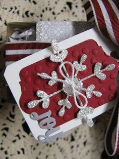 Sparkle Snowflake tag
