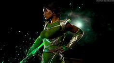 Mortal Kombat Gif, Jade Mortal Kombat, Kitana Mortal Kombat, Mortal Kombat Cosplay, Black Anime Characters, Fantasy Characters, Female Characters, Mortal Kombat Costumes, Armadura Cosplay