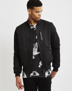 Eleven Paris Muxy MA1 Bomber Jacket Black  | Shop men's clothing at The Idle Man Eleven Paris, Black Bomber Jacket, Men's Clothing, Contemporary Style, Parisian, Style Me, Man Shop, Jackets, Clothes