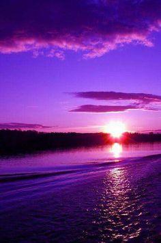 Purple Sunset #BeautifulNature #NaturePhotography #Nature #Photography #Sunsets #Reflections