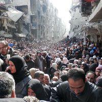 Syrie: scène de désespoir ordinaire au camp de Yarmouk