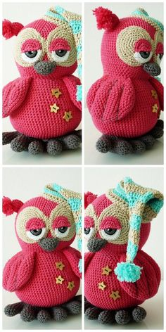 In this article we will share free amigurumi animal crochet patterns. You can enjoy these beautiful amigurumi Owl Knitting Pattern, Crochet Birds, Crochet Amigurumi Free Patterns, Crochet Animal Patterns, Owl Patterns, Crochet Bear, Crochet Stitches Patterns, Stuffed Animal Patterns, Crochet Animals