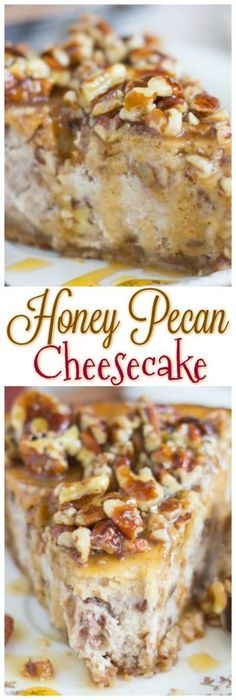 A rich cheesecake with a pecan shortbread crust, and topped with a glorious honey-pecan sauce. This Honey Pecan Cheesecake with Pecan Shortbread Crust is to-die-for!