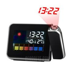 Temperature Humidity Display LED Projection Alarm Clock #Shoproads #onlineshopping #Clocks