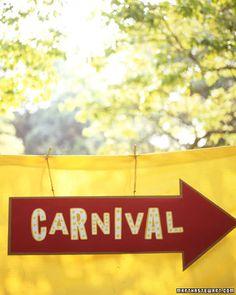 Martha Stewart Carnival Party--great games