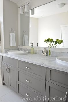 love this colour scheme (grey, white, marble, mirror) but would want a simpler and more modern look.