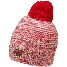Reebok Minnesota Wild Ladies Red-White Big Pom Heathered Beanie by Reebok. $17.95. Reebok Minnesota Wild Ladies Red-White Big Pom Heathered BeanieOfficially licensed NHL productQuality embroideryContrast pom on topOne size fits mostImported100% AcrylicSoft-fleece interior headband100% AcrylicOne size fits mostQuality embroideryContrast pom on topSoft-fleece interior headbandImportedOfficially licensed NHL product