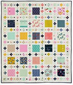 Squares Plus - featured in McCalls Quick Quilts Feb/Mar 2015 Scrappy Quilts, Easy Quilts, Batik Quilts, Quilting Projects, Quilting Designs, Quilting Ideas, Quilt Design, Sewing Projects, Plus Quilt