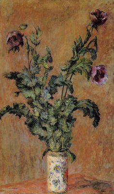 Claude Monet, Vase with Poppies c.1880.