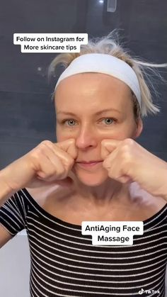Facial Yoga, Face Exercises, Beauty Tips For Glowing Skin, Face Massage, Face Treatment, Face Contouring, Massage Techniques, Face Skin Care, Skin Care Tips