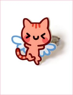 Angel Kitty Ring #cute #kawaii #kitty #cat #ring