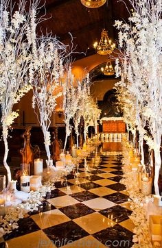 Winter wonderland ceremony at the Grand Del Mar