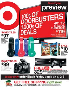 See the Target Black Friday ad 2017 here! Plus get the best Target Black Friday deals, sales, sale info and more Black Friday ads at BlackFriday. Black Friday Ads, Early Black Friday, Best Black Friday, Ps4 Price, Beats Solo Hd, Discount Gift Cards, Holiday Deals, Friday Holiday, Live In The Now