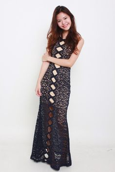 CYNTHIA LACE MAXI available from www.bellablizz.com