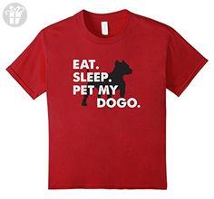 Kids Eat Sleep Pet My Dogo Shirt Dogo Argentino Dog Funny Gift 4 Cranberry (*Amazon Partner-Link)
