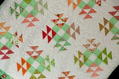 Robins Nest full size quilt in vintage style