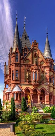 Dragon Castle, Schloss Drachenburg, Germany This looks like some of the houses in downtown Louisville. Places Around The World, Oh The Places You'll Go, Places To Travel, Places To Visit, Around The Worlds, Beautiful Castles, Beautiful Buildings, Beautiful Places, Real Castles