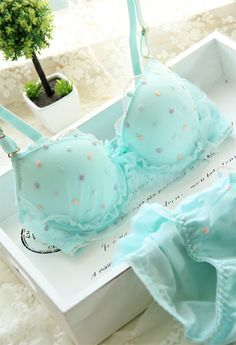 New arrival Bra briefs Candy bubble glass fibre 3 breasted women's single bra underwear set 6831 3 Free shipping-inBra & Brief Sets from App...