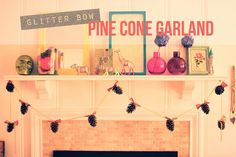 Hey Wanderer: the diy: glitter bow pine cone garland. This is freaking adorable...I might make this for Christmas!