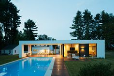 Shirley Road Residence - Groton, Massachusetts - Prefab but gives ideas for loggia area...