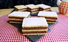 "Prăjitura duo: o faci într-o oră și-ți rupe inima în ""duo"" Romanian Desserts, Romanian Food, Oras, Cheesecakes, Food To Make, Sweet Treats, Food And Drink, Cooking Recipes, Sweets"