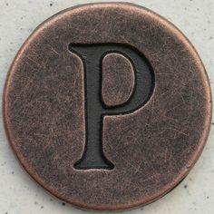 Copper Uppercase Letter P