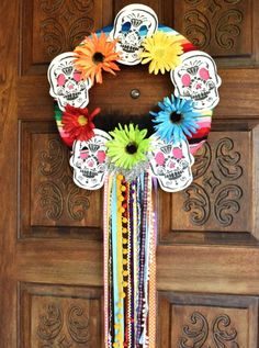 Dress up your door for Day of the Dead with this fun wreath. Day of the Dead is a beautiful Mexican holiday full of rich culture and tradition.