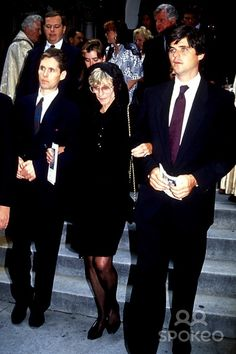 Jean Kennedy Smith with Sons Stephen and William Kennedy Smith Photo ...