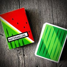 Absolutely love the dynamic colors of @flaminko_playingcards' Watermelon #playingcards currently funding on #kickstarter. Oh.. and printed by @cartamundicards!