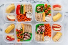 One of my favorite lunches! I just think it's so pretty! This is a make your own sandwich kit. Slices of bread, cheese ham, and veggies, with mayo.…