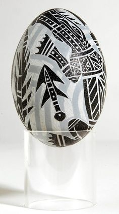 Carved Emu Egg - By Nuddij