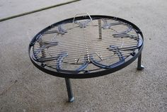 Firepit Stand & BBQ Grill for backyard fire ring, 23 inches diameter