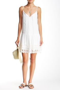 Crochet Lace Flounce Dress by BeBop on @nordstrom_rack