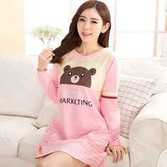 Knitted Cotton Nightgowns & Sleepshirts cartoon night suit clothes women female girl cute animal bear sleepwear ropa mujer 8986     Tag a friend who would love this!     FREE Shipping Worldwide     Buy one here---> http://oneclickmarket.co.uk/products/knitted-cotton-nightgowns-sleepshirts-cartoon-night-suit-clothes-women-female-girl-cute-animal-bear-sleepwear-ropa-mujer-8986/
