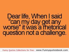 Work Quote : Funny Quotes about challenge of life