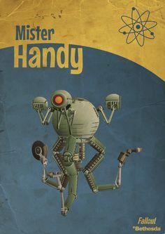 Mr Handy Robot Fallout