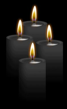 ☆ 4 Black Candles: Burning black with any other color disolves negative energies! Protection, hex-breaking, reversing, banishing, destroying evil or negativity, binding, and repelling. Also used for healing very powerful illnesses.。By ~Blood-Huntress ☆