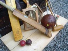 Cricket balls Cricket Bats from Tennis raquets Vintage leather footballs All price excl VAT Tennis Serve, Tennis Equipment, British Sports, Cricket Bat, Summer Games, Bats, Vintage Leather, Childhood Memories